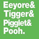 Eeyore&Tigger&Pigglet&Pooh by nimbusnought