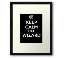 Keep Calm i'm a Wizard Framed Print