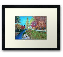 small road to town Framed Print