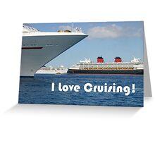 I Love Cruising Greeting Card