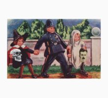 Young Gravediggers  (Vintage Halloween Card) by Welte Arts & Trumpery