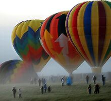 Balloons in the Mist  by John  Kapusta