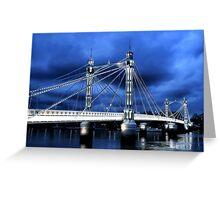 Albert Bridge, London Greeting Card