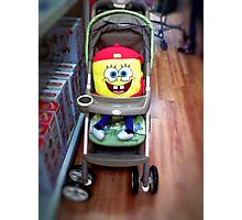 Character in a Stroller Photographic Print