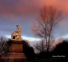 Statue at Dusk by Charmiene Maxwell-batten