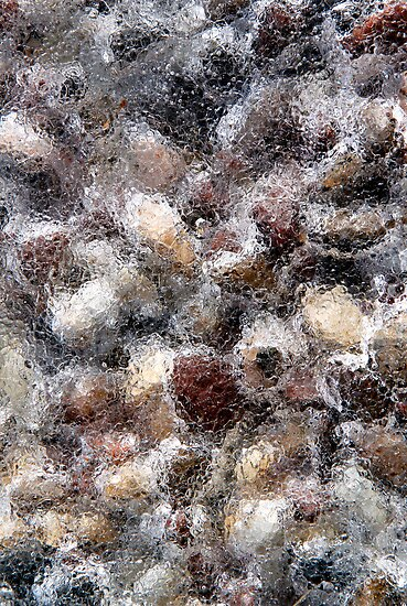 Frozen Pea Gravel by Debbie Pinard