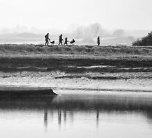 Family walk along the river by Darren Bailey LRPS