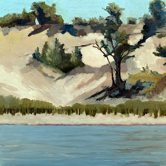Lake Michigan Dune by Michelle Calkins