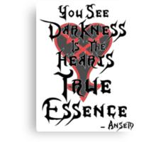 Kingdom Hearts: Ansem Quote  Canvas Print