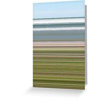 Sky Water Beach Grass Greeting Card