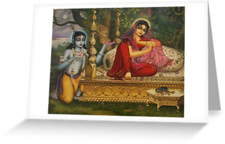 Radha and Krishna Man lila in Vrindavan by Vrindavan Das