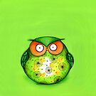 Spring Green Owl by Annya Kai