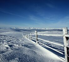 Icy Fence, Ochil Hills, Central Scotland by ScotLandscapes