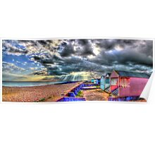 Worthing  Beach Huts - HDR Poster