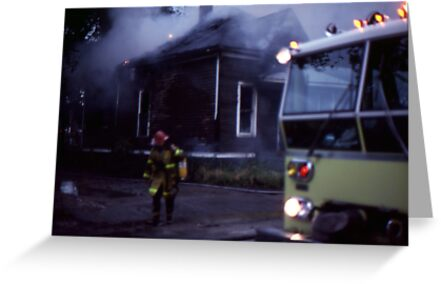 Fire in Detroit 1978 by Phil Campus
