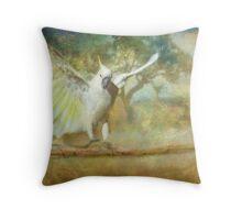 Cockatoo Dreaming Throw Pillow