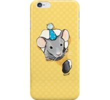 Little Grey Party Mouse iPhone Case/Skin