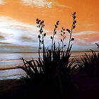 Flax Orange Dusk  by Karen Lewis
