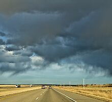 Stormy highway by derejeb