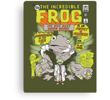 THE INCREDIBLE FROG Canvas Print