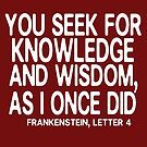You seek for knowledge and wisdom by nimbusnought