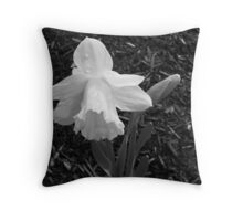 Welcome Spring in B&W Throw Pillow