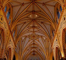 The ceiling of St. Stanislaus church by Jim Butera