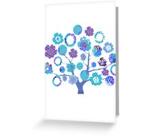 tree of life - blue blossoms Greeting Card