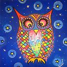 Patchwork Owl by jonkania