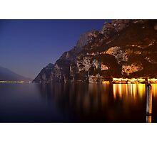 Il lago di notte Photographic Print