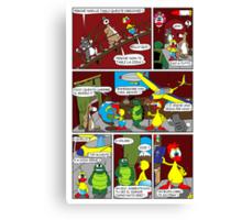 "Rick the chick  ""THE MAGIC SHELL (ITALIANO) parte 13"" Canvas Print"