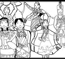 pow wow dancers coloring pages - photo#9