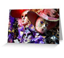 Maschere di Venezia-maschera di carnevale di Venezia Greeting Card