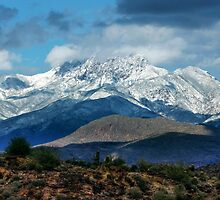 Four Peaks in Snow by George Lenz