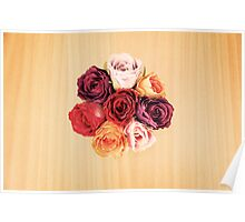 Top view of artificial bouquet Poster