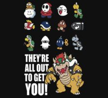 """They're All Out To Get You!"" Mario Characters Design Kids Clothes"