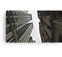 In-between skyscrapers Canvas Print