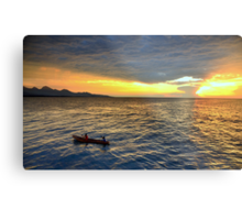 Sunset.Lake Tanganyika Metal Print