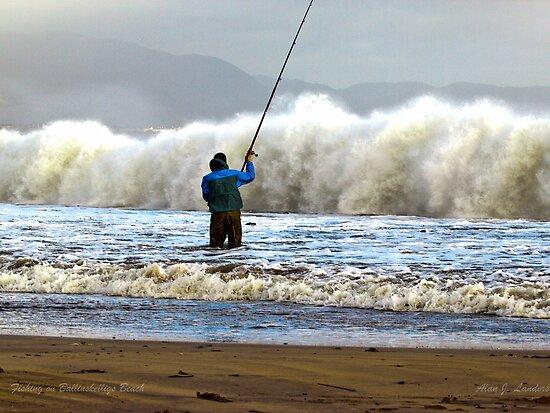 Shore Fishing Ballinskelligs Beach, Co Kerry by AlanJLanders