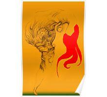 Hot Red Vestle Poster