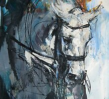 Dressage No.6 - Grey Stallion in Focus by Nina Smart