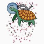 Ozone Sam The Space Turtle T-Shirt by Sam Mitchell