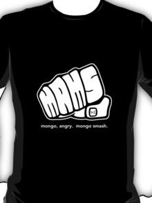 Mongo Angry Mongo Smash Fist Logo White T-Shirt
