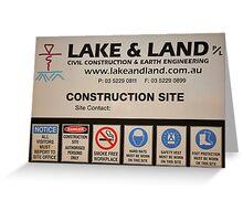 Lake and Land Pty Ltd Greeting Card