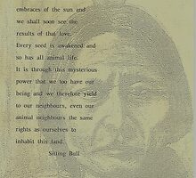 Sitting Bull,s  Plea for our wildlife  by MrDavid