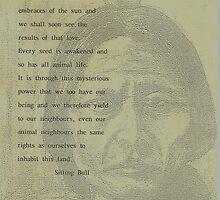 Sitting Bull,s  Plea for our wildlife  by MrDavid