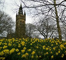 Glasgow University in the Spring by Glaspark