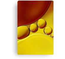 Abstract Oil Drops II Canvas Print