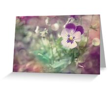 Pansy Fantasy Greeting Card