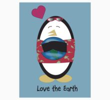 Waddles the Penguin Loves the Earth by ValeriesGallery